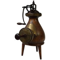 Beautiful Decorative Coffee Grinder | From a unique collection of antique and modern more antique and vintage finds at https://www.1stdibs.com/furniture/more-furniture-collectibles/more-antique-vintage-finds/