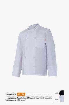 URID Merchandise -   CASACO COZINHEIRO MANGA COMPRIDA   21.10 http://uridmerchandise.com/loja/casaco-cozinheiro-manga-comprida/