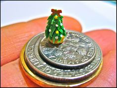 tiny miniature trees | Miniature Christmas Tree Cupcake. Small Scale! My first attempt made ...