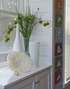 """""""Choose various colored frames in a coordinating palette if you want to liven up a neutral environment."""""""