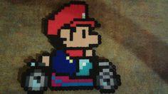 Perler Mario kart 8 baby Mario