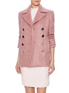 Mohair Double Breasted Coat from Fall Trends: Colorfun on Gilt $1799