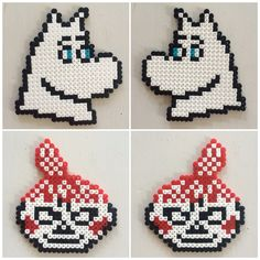 Bilderesultat for moomin knitting pattern Hama Beads Design, Hama Beads Patterns, Beading Patterns, Moomin, Knitting Charts, Knitting Patterns, Bead Crafts, Diy And Crafts, Pixel Beads