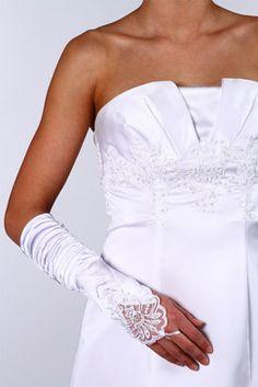 tati mariage mitaine en satin blanc perl 1499 pour vous - Tati Mariage Rouen