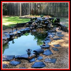 Fish ponds add freshness to your overall home look. Need some fish ponds inspirations? Find out here. Small Backyard Landscaping, Ponds Backyard, Landscaping Ideas, Backyard Ideas, Koi Fish Pond, Fish Ponds, Garden Pond Design, Pond Waterfall, Small Waterfall
