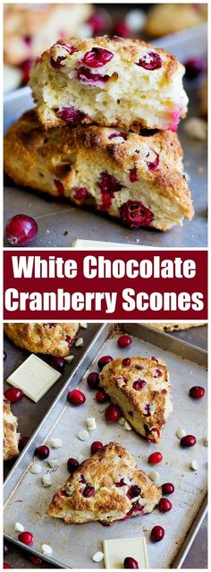 Cranberry White Chocolate Scones | Posted By: DebbieNet.com