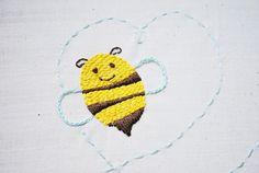 bumblebee embroidery