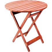 Folding Wooden Bistro Table, Multiple Colors