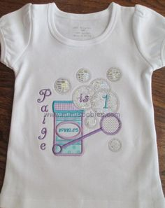 Bubbles Birthday Shirt Girls Color Outline Bubbles Blowing Birthday Theme - pinned by pin4etsy.com