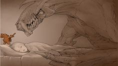 dragons-nightmare-sleeping-teddy-bears-27860.jpg 590×331 pixels