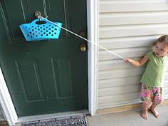 Durable homemade pulley to help your kids investigate how pulleys work.