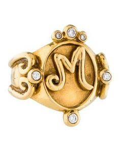 Erica Courtney 18K and Diamond Signet Ring - $5,000