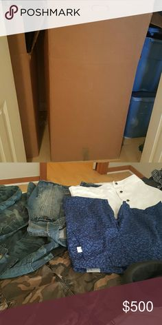 Men's clothes,shoes,belts,hats,etc Very nice clothing Lot, to keep, resale or both! Some nwt Other