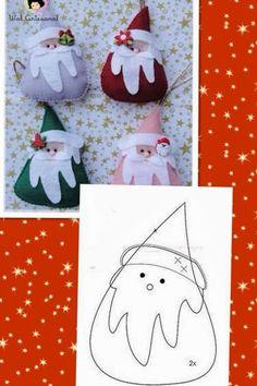 Felt Elf Santa's