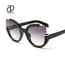 dbe07d3f74bb FEIDU Fashion Oversized Cat Eye Sunglasses Women Brand Designer Multicolor Sun  Glasses For Women Driving Oculos