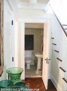 Powder Room Under The Stairs Powderroom What I Do Pinterest Powder Room And Future House