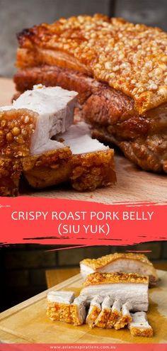 Pork Belly Recipe Oven, Pork Belly Roast, Roasted Pork Belly Recipe, Crispy Pork Belly Recipes, Crispy Pork Recipe, Chinese Pork Belly Recipe, Chinese Roast Pork, Beer Recipes, Pork Recipes