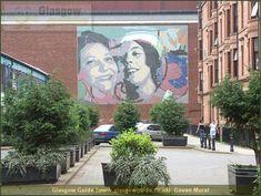 Glasgow Guide: Photographs of Glasgow in Scotland: Along Govan Road Glasgow Scotland, Places Of Interest, Perth, Amazing Art, Wall Murals, Mount Rushmore, Graffiti, Street Art, Flora