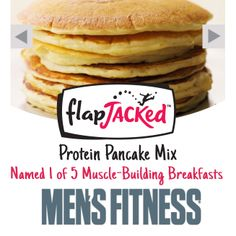 Is Breakfast still the most important meal of the day? Of course it is! According to @Maria Henderson Nelson's Fitness , #FlapJacked Protein Pancakes is one of five delicious, protein-packed breakfast options! Bolstered with ridiculous amounts of #protein and healthy carbs, be ready to set your energy level for the day, rev up your metabolism, and fuel muscle growth without guilt!