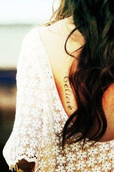 Ribs Short Love Quote Tattoos for Girls - Sexy Ribs Love Quote Tattoos | Black words tattoos for girl