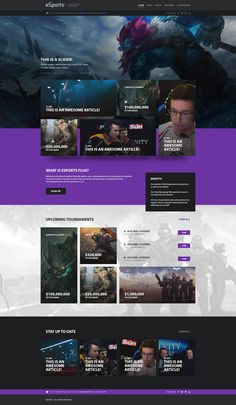 Pegasus theme designed by Ollie Taylor 😎 for Creative Grenade. Connect with them on Dribbble; Design Sites, Web Ui Design, Dashboard Design, Game Design, Website Design Layout, Web Layout, Layout Design, Mise En Page Web, Movie Website