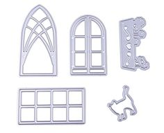 RoseSummer 5pcs Windows Door Cutting Dies Stencils Planer Embossing DIY Scrapbook Template Craft Card Paper *** You can find out more details at the link of the image.Note:It is affiliate link to Amazon.
