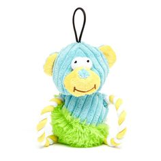 Iconic Pet Bear Rope Toy with Squeaky - 6.3 Inch - Size : 6.3Color corduroy fabric and plush, with matched cotton rope,with squeaker.. At Home > Pet Care > Pet Toys > Dog Toys. Weight: 1.00