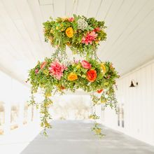 Colorful Floral Chandelier