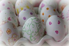 Pretty Easter Inspiration ~  Sharpie Eggs Craft