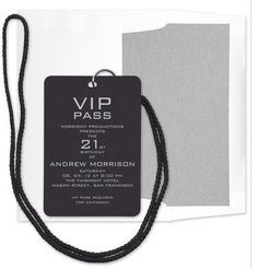 V.I.P. back stage party pass - great idea for 21st, stagettes, grad party