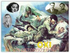 28η Οκτωβρίου 1940 | Ε΄ & ΣΤ΄ τάξη | Scoop.it Photo And Video, History, Movies, Movie Posters, Pictures, Painting, Art, Greece, October