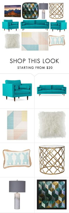 """My Dream Living Room"" by kaylarose6306 ❤ liked on Polyvore featuring interior, interiors, interior design, home, home decor, interior decorating, Joybird, BCBGeneration, Basset Mirror Company and living room"