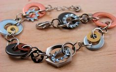 Mixed Washer Bracelet by additionsstyle, via Flickr