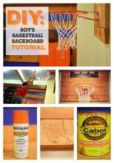 DIY: Tutorial Boyu0027s Basketball Backboard