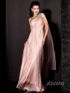 Tendinte in rochiile de seara penru 2014 Rochie de seara Jovani fara maneci cu detaliu pe un umar, Jovani.