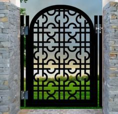 oriental style wrought iron fence parts - Google Search