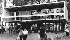 Beachcomber Mark II, Carlingford, Image courtesy National Archives of Australia Australian Architecture, Interior Architecture, Beach Shack, Mid Century House, Mid-century Modern, Photo Wall, Exterior, National Archives, House Styles