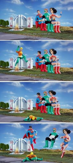 It ain't easy being Aquaman. (like to see what would happen if they did this to batman) xD