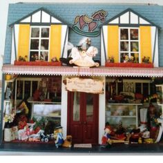 "One of our early kits....""The Rocking Horse""Toy Shop......by Anne"