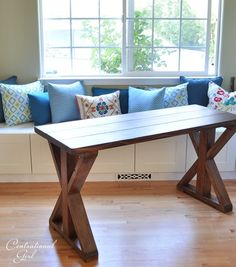 It was worthy of its very own post, so here is the step-by-step on how we built this rustic dark X base table by hand in a custom size. Description from pinterest.com. I searched for this on bing.com/images