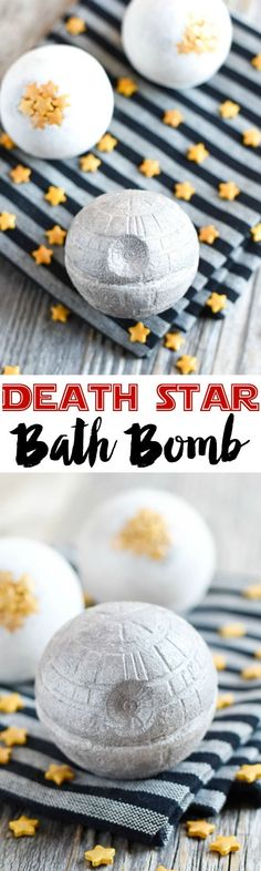 DIY Death Star Bath Bomb! A great way to enjoy a relaxing bath without the high price! The perfect DIY project for Star Wars fans!