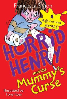 Horrid Henry indulges his favorite hobby—collecting Gizmos; has a bad time with his spelling homework; starts a rumor that there's a shark in the swimming pool; and spooks Perfect Peter with the mummy's curse. New Children's Books, Good Books, David Walliams Books, Tony Ross, Quiz Names, Library Signs, Galaxy Book, Summer Books, Chapter Books