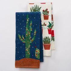 "Christmas Cactus Lights Kitchen Towel Set- 2 Piece- 16.5"" x 26"" St. Nicholas Square http://www.amazon.com/dp/B019N1ZXTO/ref=cm_sw_r_pi_dp_ZaUdxb0H1JMDY"