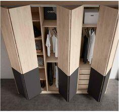Armario puertas plegables moderno beladur 270-BH38  Mobles Sedaví Tool Room, Small Closets, Walk In Closet, Home Studio, Locker Storage, New Homes, Room Decor, Diy, Bedroom