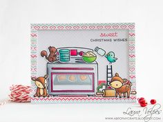 A bit of my crafts: Holiday Card Making Series 2017 - Sweet Christmas Scene feat Lawn Fawn