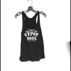 Gypsy Soul tank American apparel tri black racerback tank size medium. PLEASE DO NOT BUY THIS LISTING!!! COMENT SIZE And I'll make you a listing of your own American Apparel Tops Tank Tops