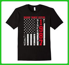 Mens Best Mom Ever Since 1987 American Flag T Shirt Large Black - Relatives and family shirts (*Amazon Partner-Link)