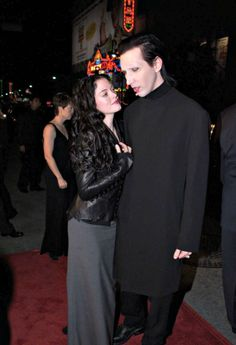 Marilyn Manson and Rose McGowan