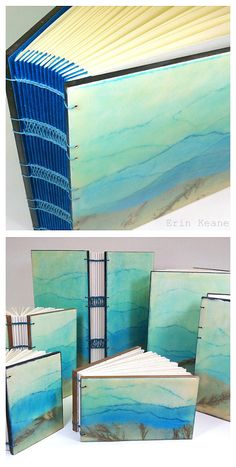 Blue Ridge Mountains #encaustic journals by Erin Keane #bookbinding