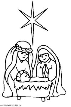 mary joseph and jesus coloring pages christmas coloring pages kidsdrawing free coloring pages online